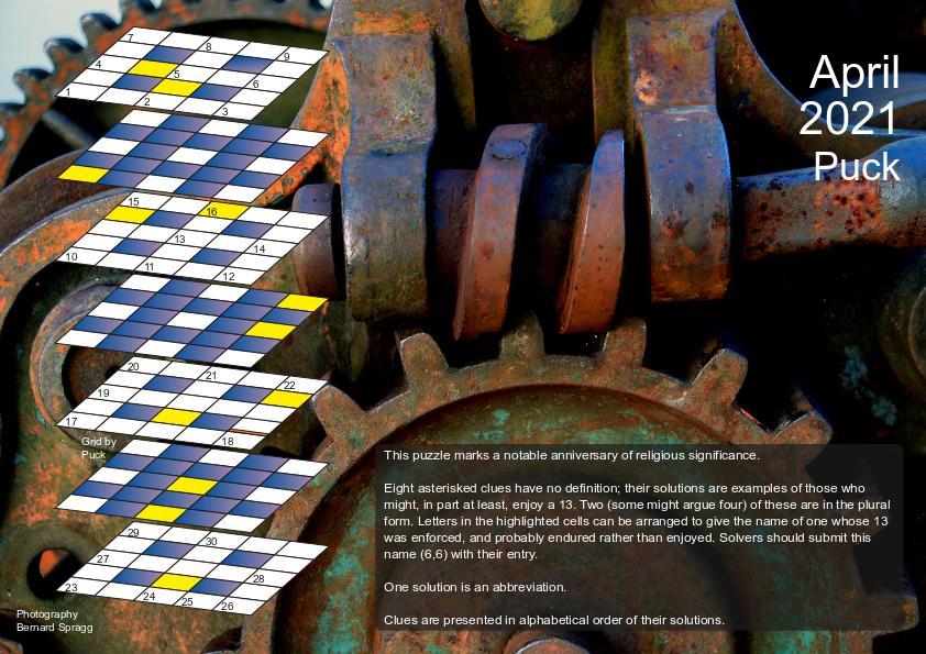 April 2021 puzzle page