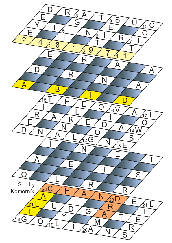 August Extra 2021 solution grid