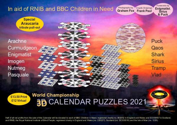 2021 Calendar of 3D Crosswords